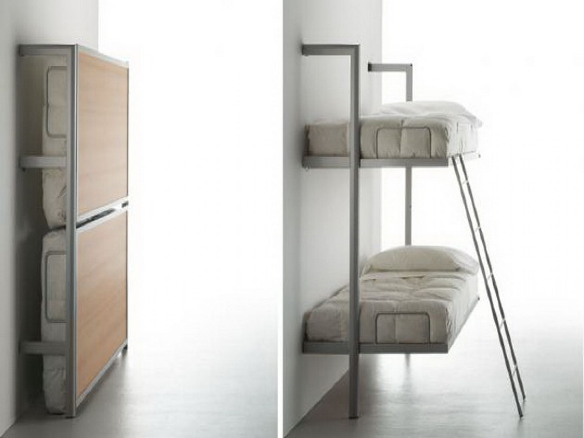 Wall Mounted Bunk Beds Stylish With