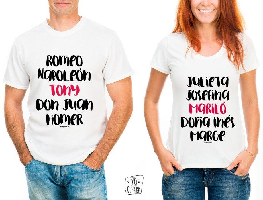 Camiseta Parejas famosas 851295fef951d