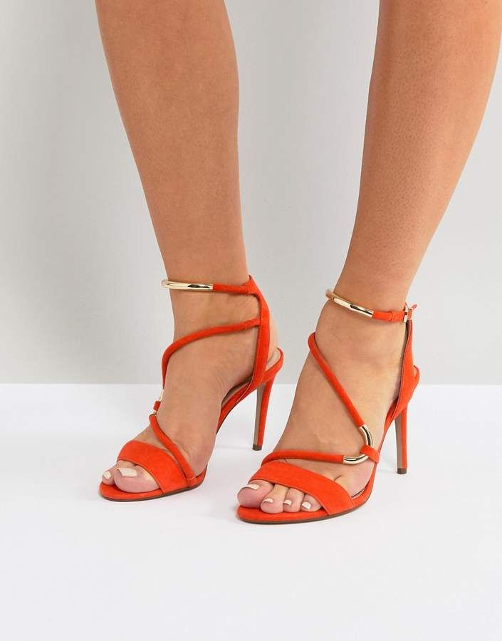 ea7476624df8 Carvela Orange Strappy Barely There Sandal