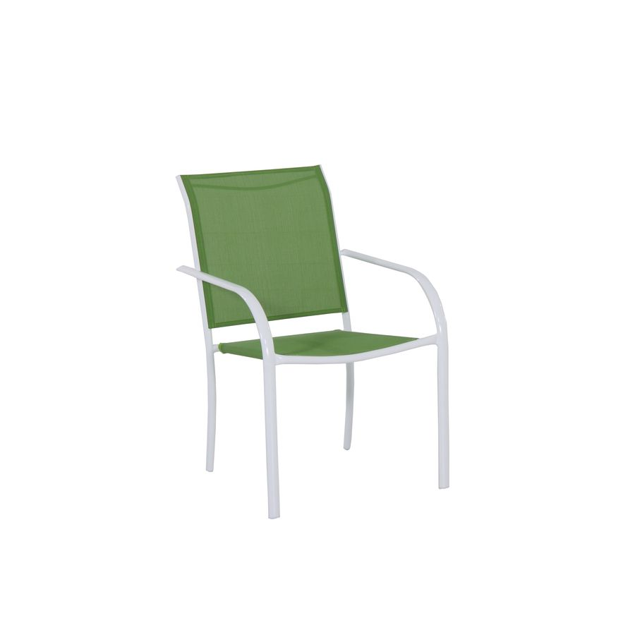 shop garden treasures pagosa springs white sling seat steel
