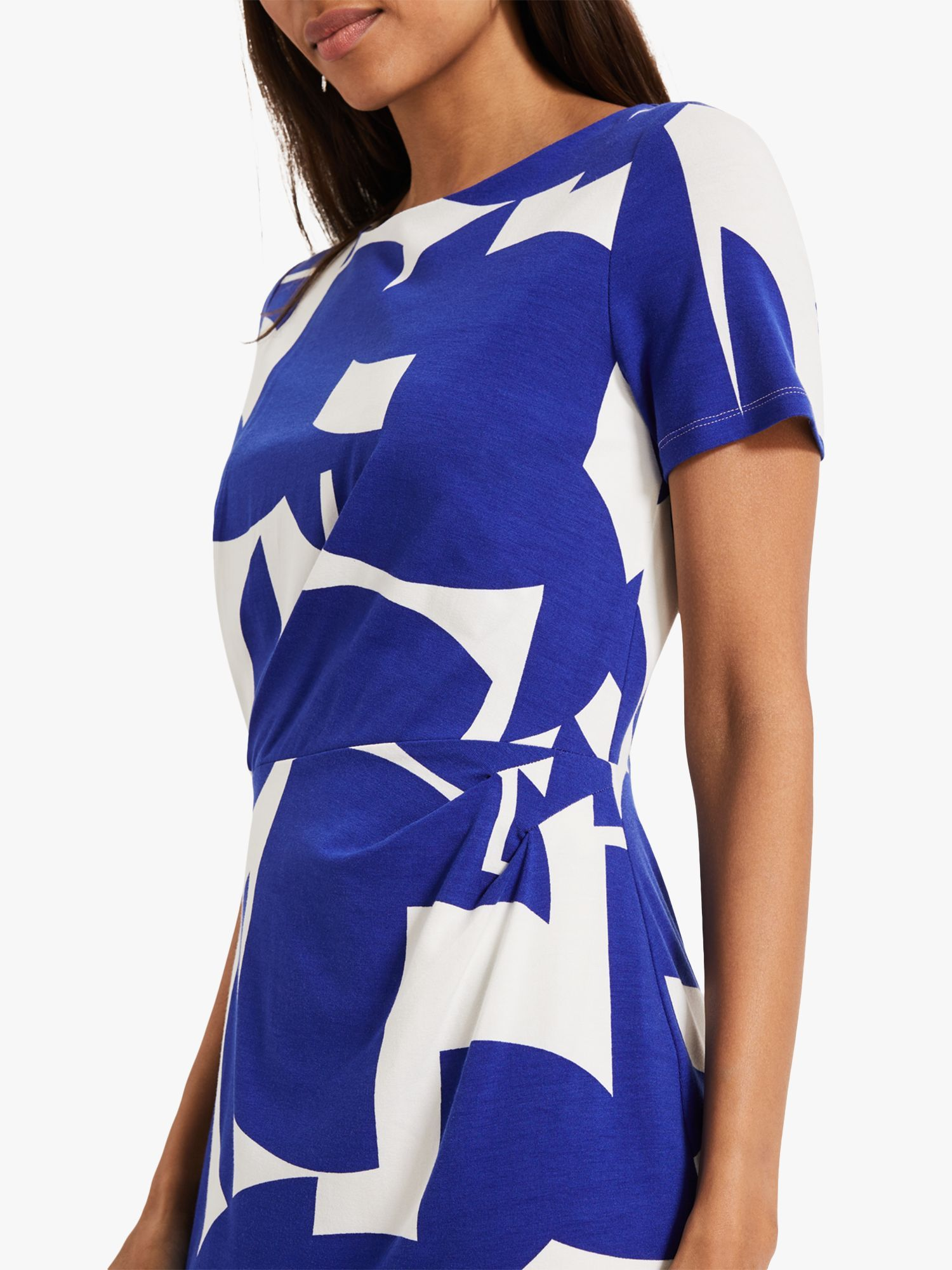 Phase Eight Gretchen Print Dress, Ivory/Cobalt #cobaltdress