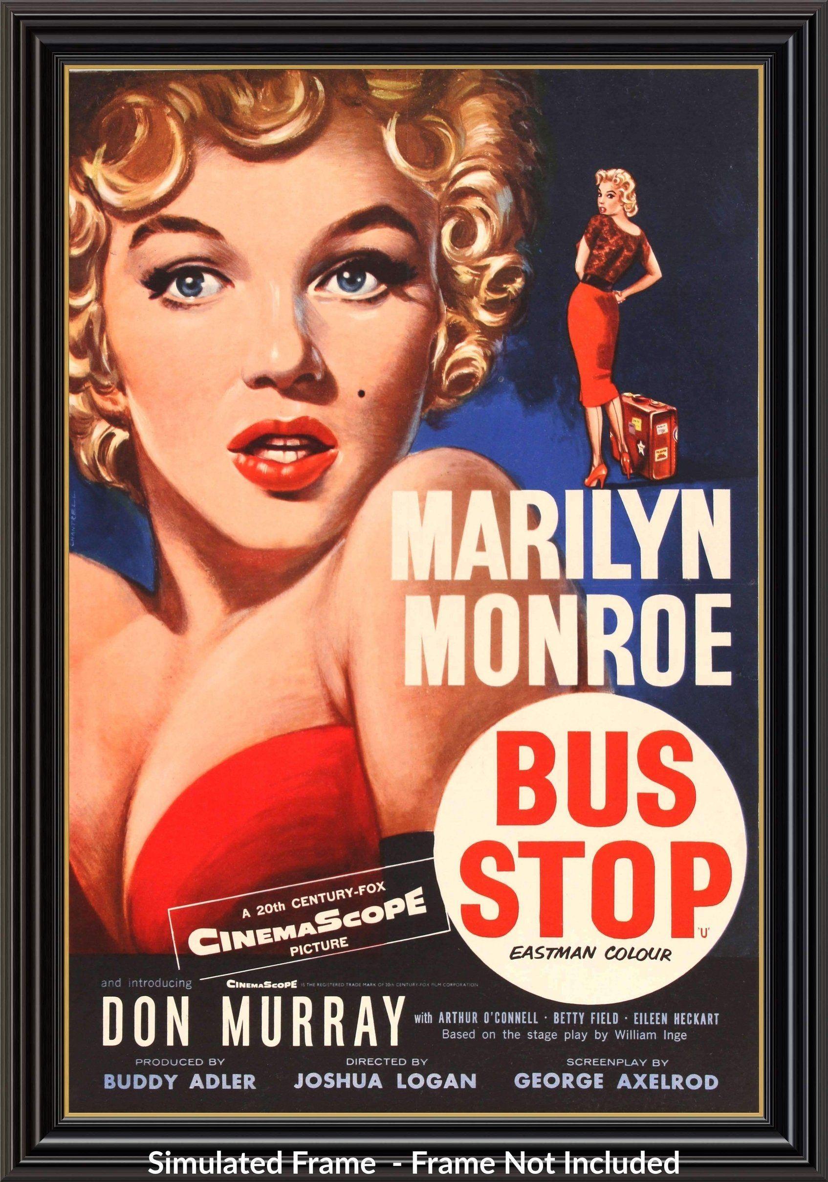 Bus Stop 1956 Marilyn Monroe Movies Movie Posters Vintage Film Posters Vintage
