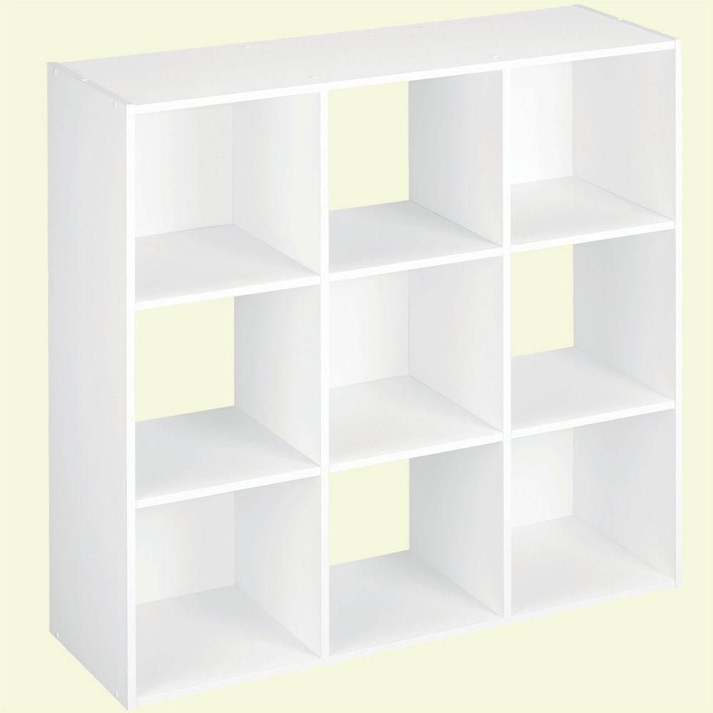 Closetmaid 36 In W X 36 In H White Stackable 9 Cube Organizer 55904 At The Home Depot Mobile Cube Drawers Cube Storage Cube Organizer