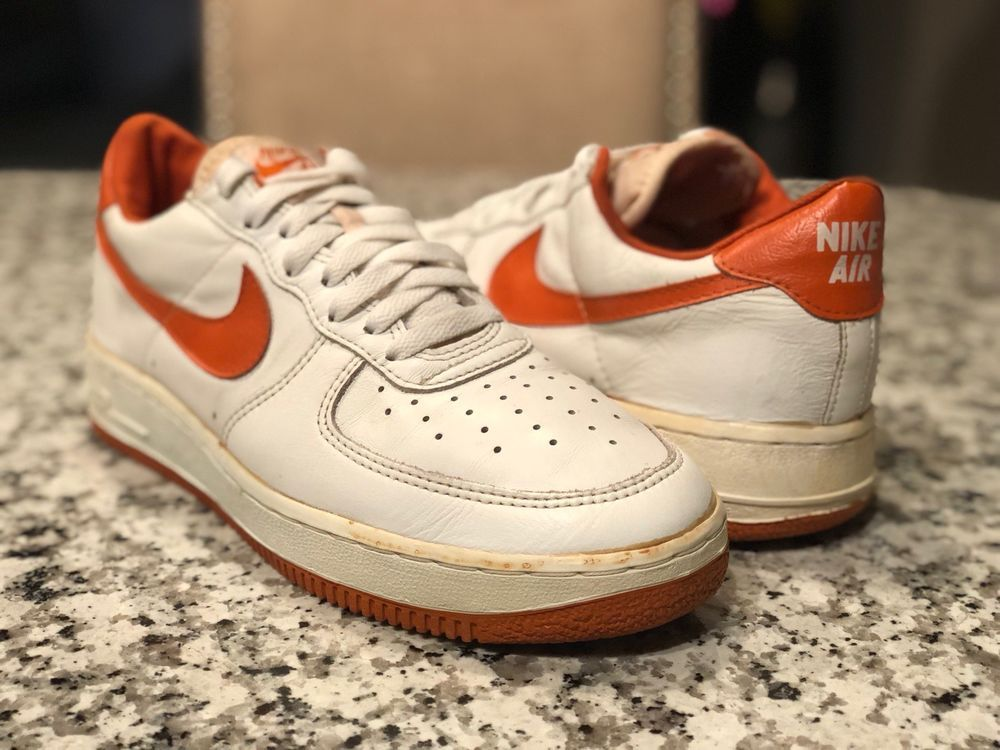separation shoes 99933 cfa62 1990 NIKE Air force 1 Low 9.5 Vintage Original OG VTG whiteorange Nike  AthleticSneakers