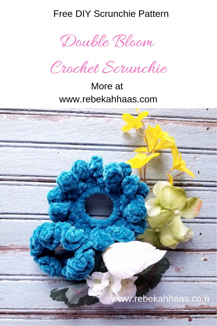 Free Crochet Scrunchie Pattern #crochetscrunchies