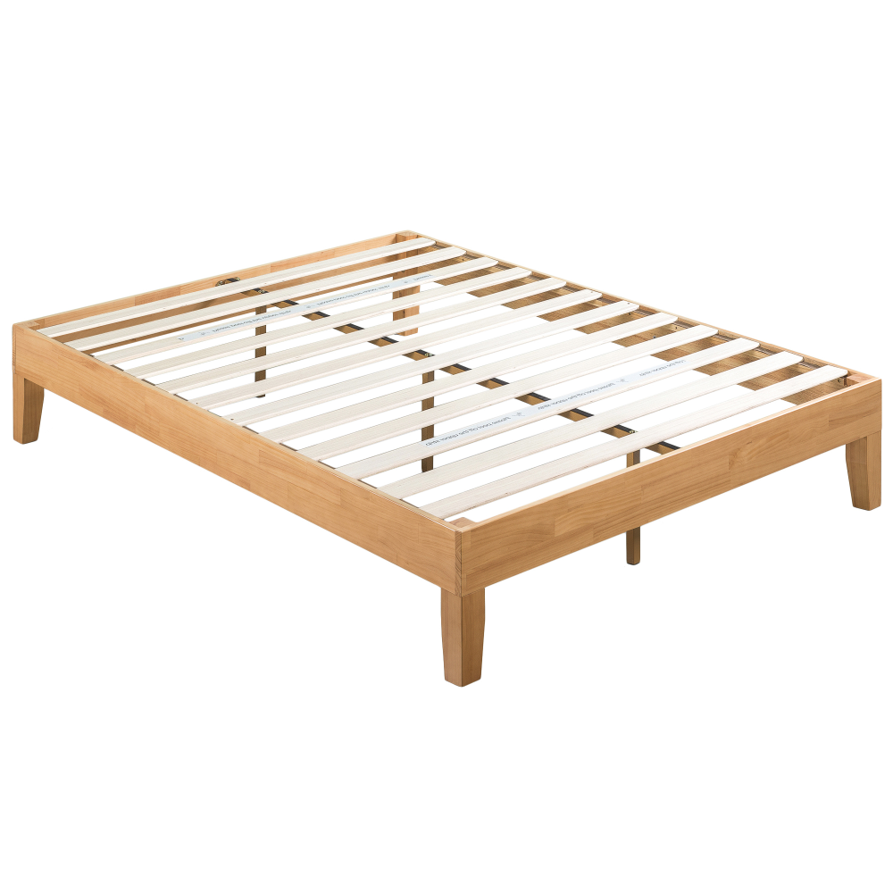 Natural Belvedere Rubberwood Bed Frame Temple Webster Wooden