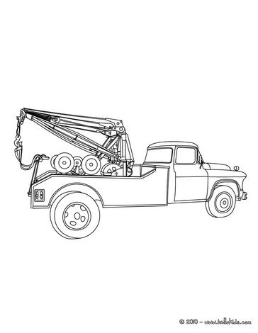 Tow truck coloring page | Trucks | Pinterest | Tow truck, Color ...