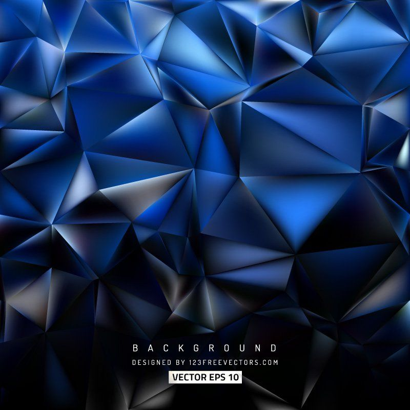 Abstract Blue Black Polygon Triangle Background Triangle