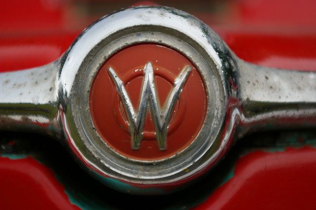 Painted Willys Pickup Truck Front Hood Emblem