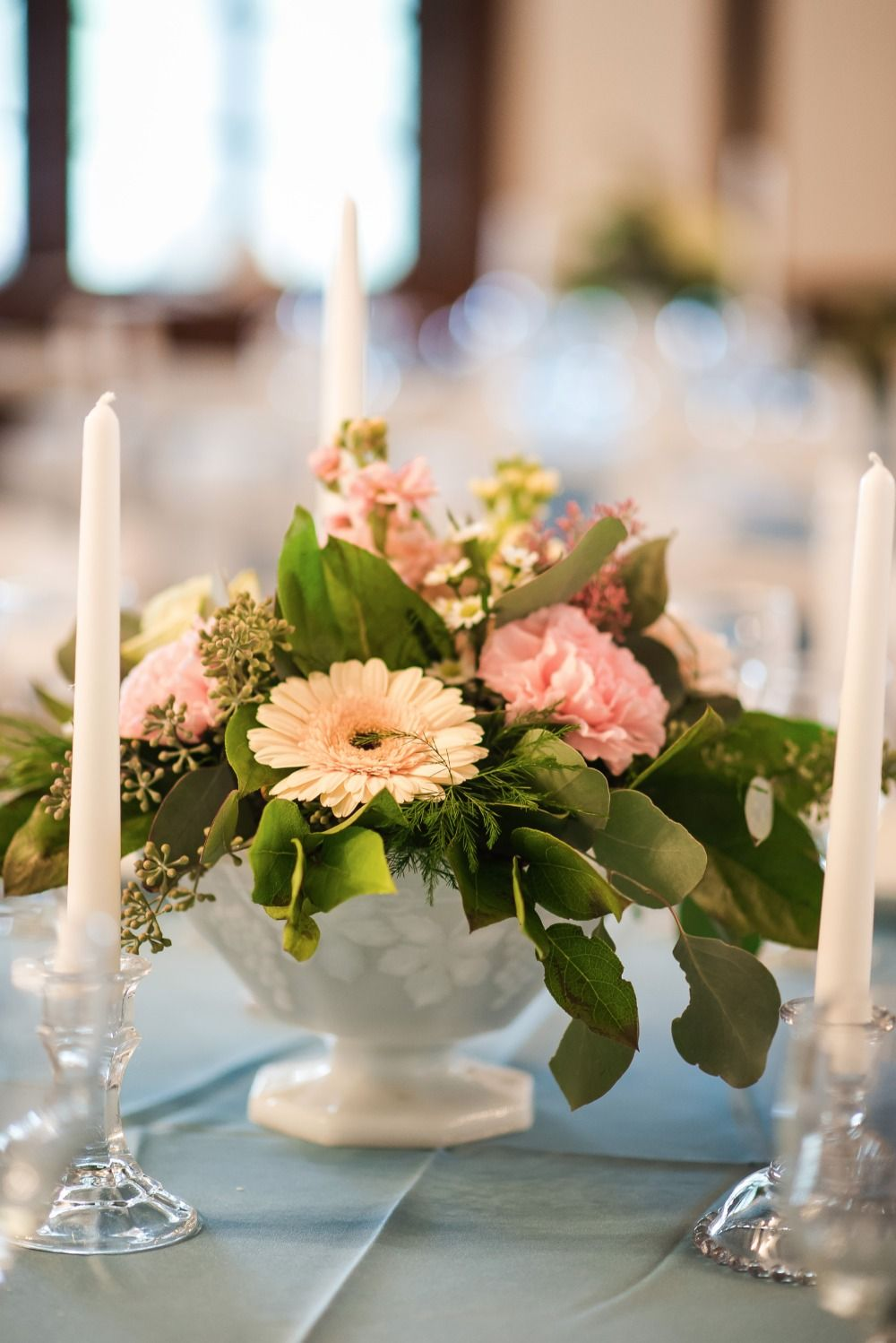 Wedding decorations simple  Natural Preppy Cottage Wedding  Floral centerpieces Centerpieces