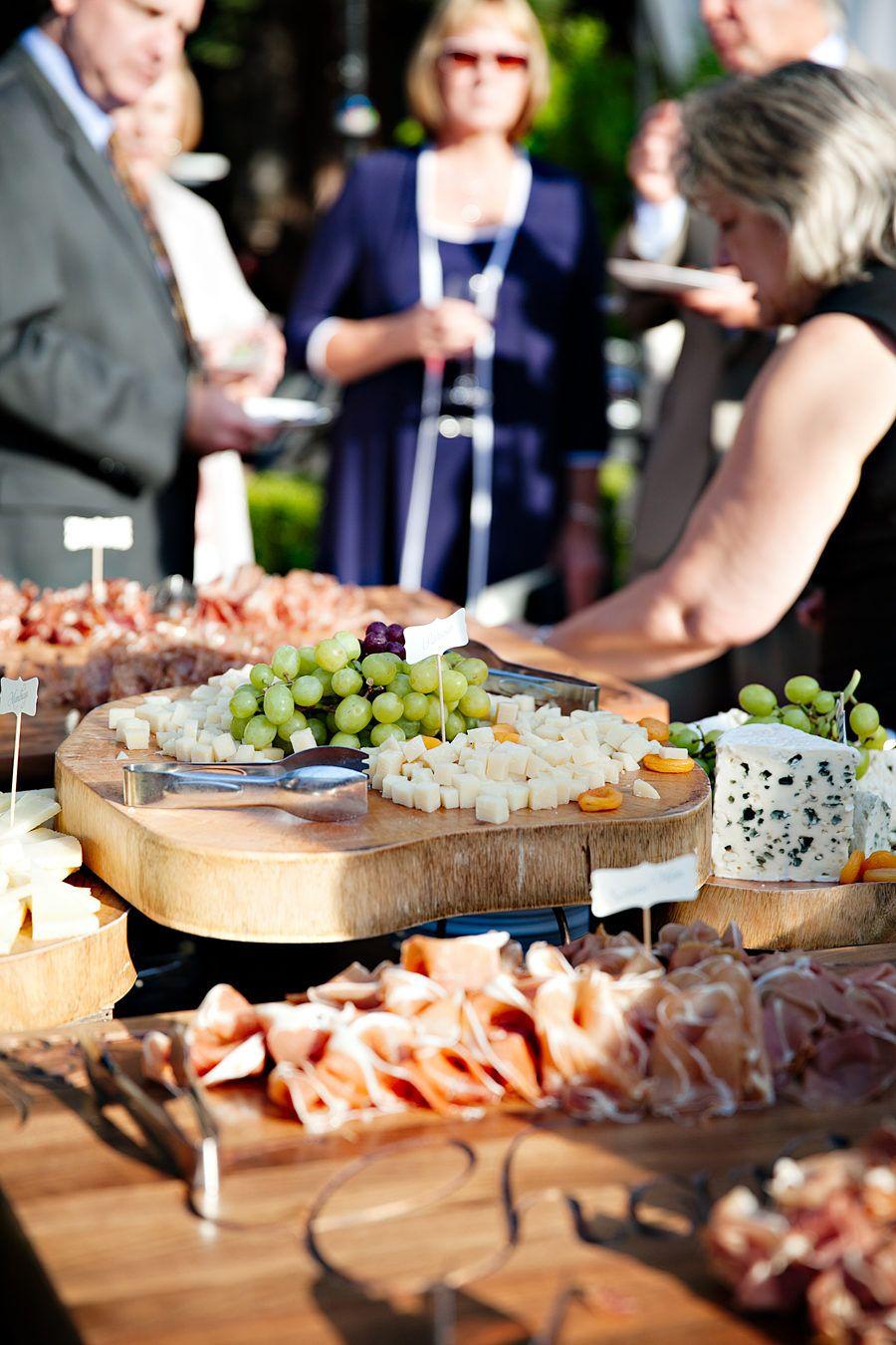 Elegant Al Fresco Wedding at Home Wedding catering