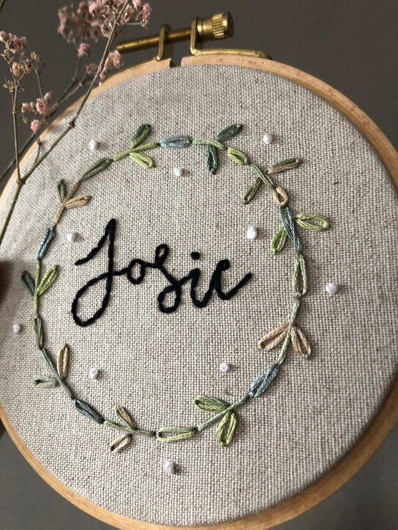 Embroidery frame leaves flower wreath personalized nursery embroidery leaf wreath embroidering wall decoration picture eukalyptus mistletoe branch