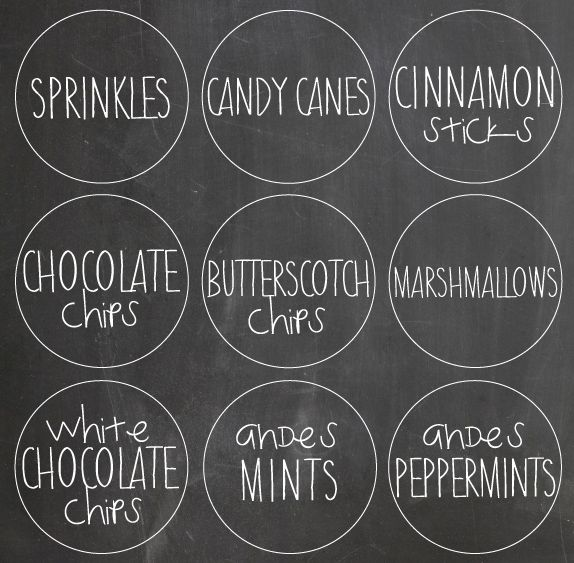Hot Chocolate Bar for Caroling Party #hotchocolatebar