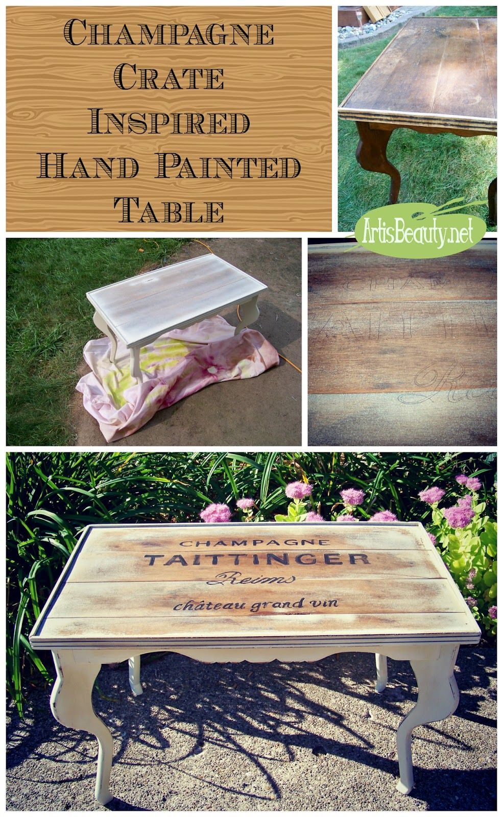ART IS BEAUTY: champagne crate inspired table