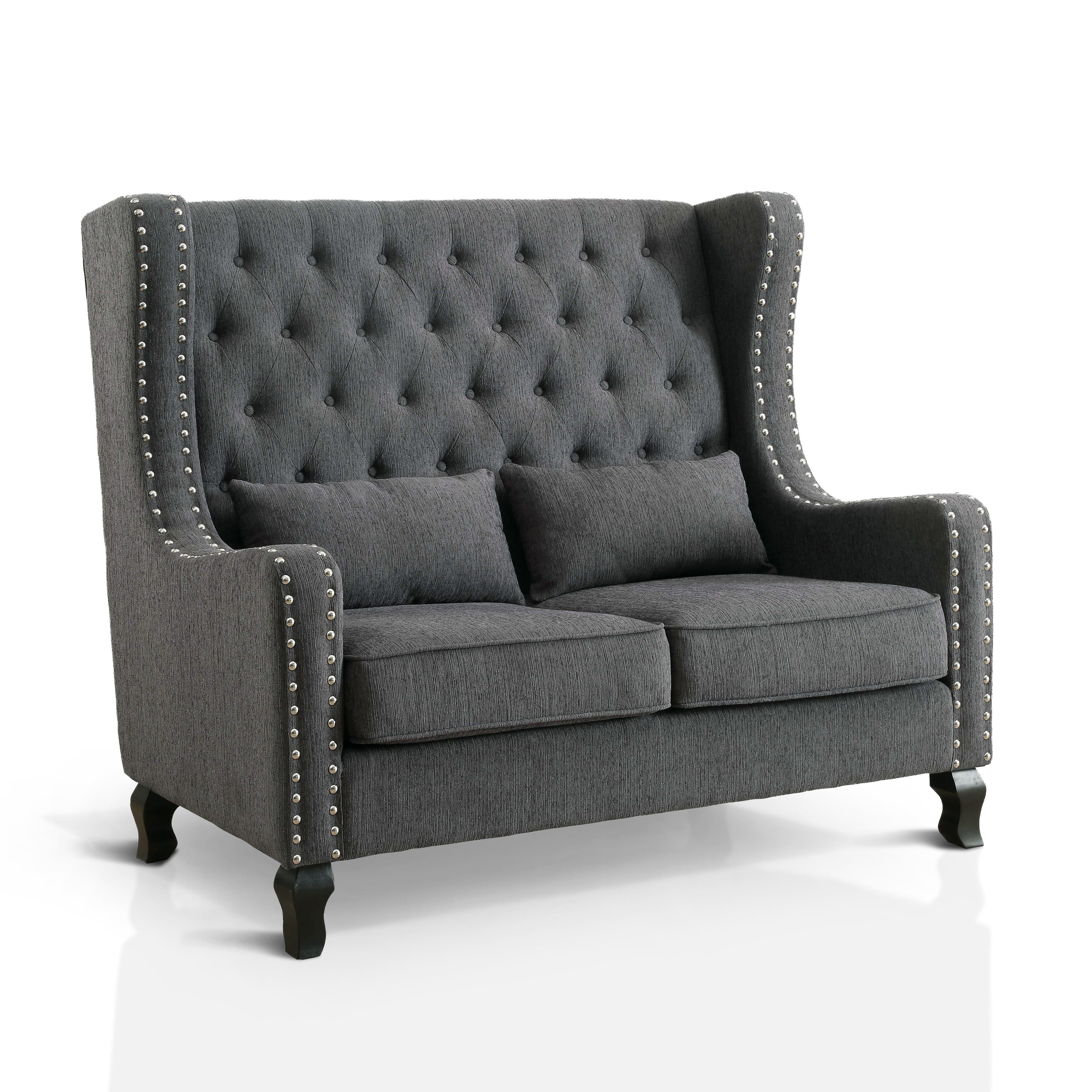 Prime Furniture Of America Lystelle Romantic Wingback Button Ncnpc Chair Design For Home Ncnpcorg