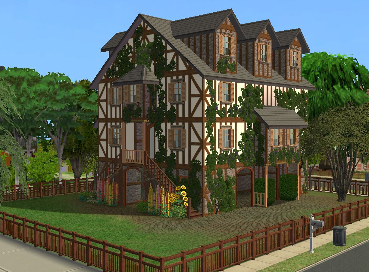 mod the sims - pavillon jasmine - kind of old medieval house for a, Badezimmer ideen