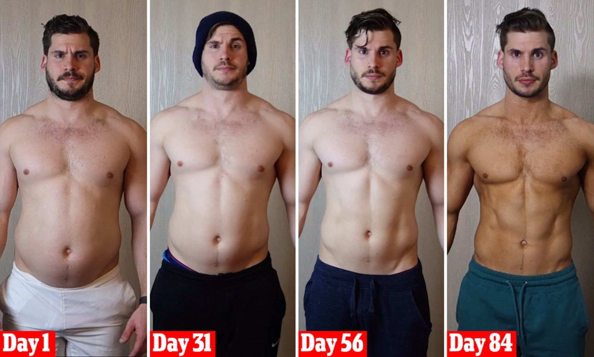 Man Shows Off 12 Week Body Transformation In Amazing Time Lapse Video Body Transformation Men 12 Week Body Transformation Transformation Body