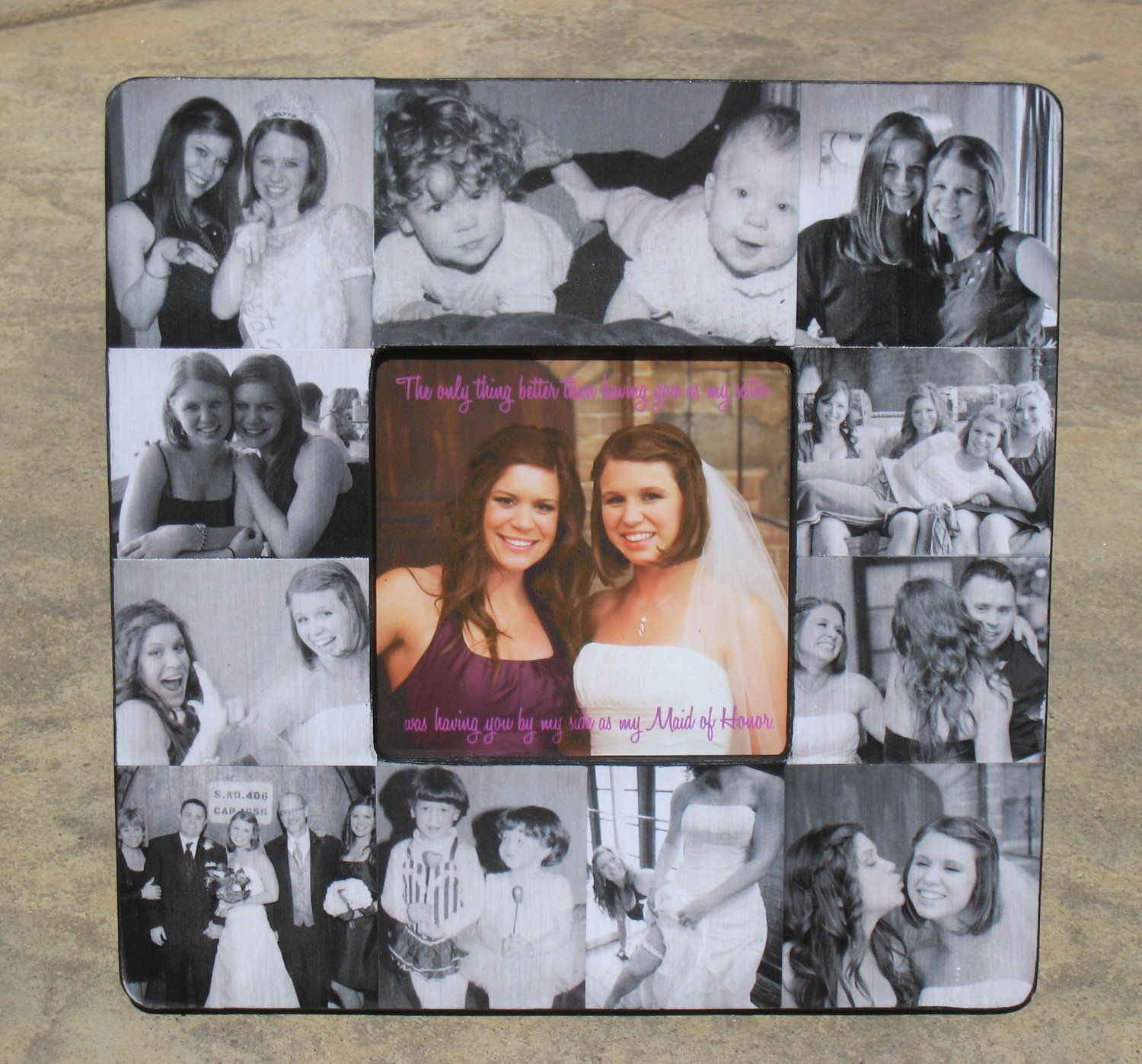 Maid of Honor Collage Picture Frame, Personalized Sister Gift ...