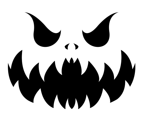 download this evil pumpkin face stencil and other free printables