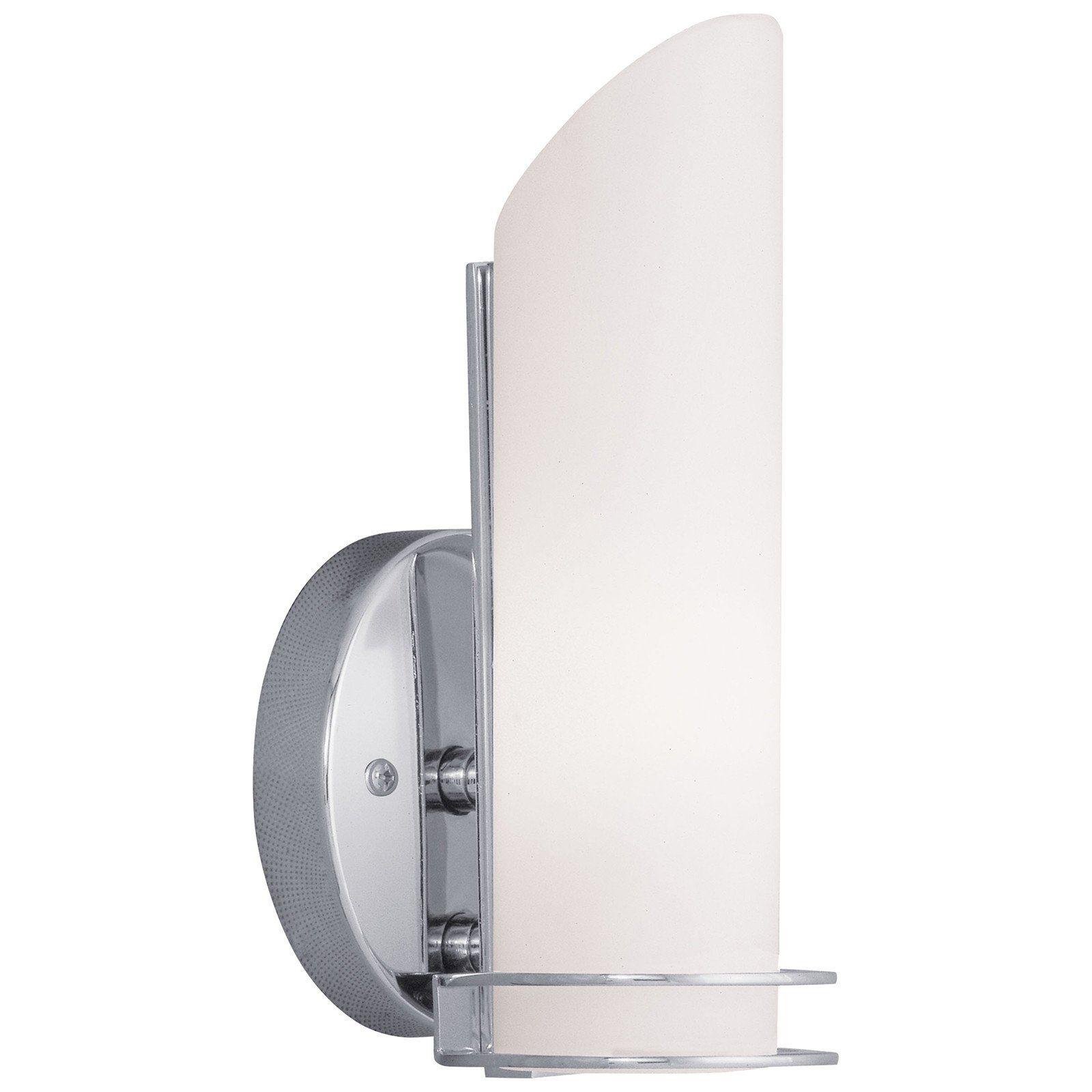 Pelham 1-Light Bath Light/ Wall Sconce in Polished Chrome ... on Height Of Bathroom Sconce Lights id=46012