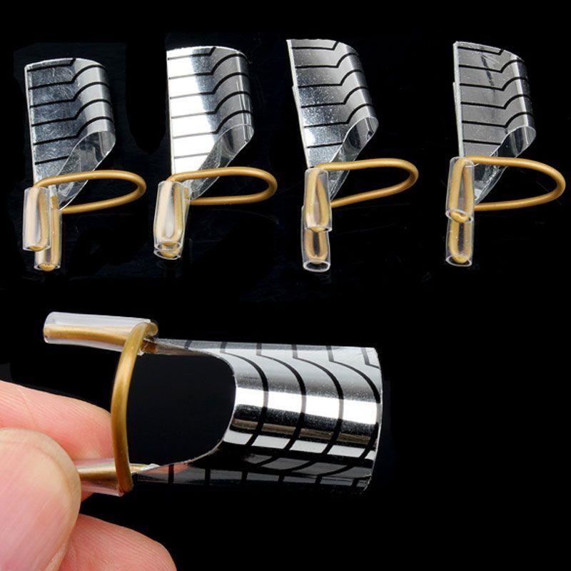 10 Pcs Nail Extension de L'environnement Réutilisable UV Gel Outil Nail Art Extension Acrylique Nail Formes pour Ongles