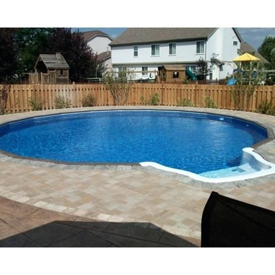 Partial Inground Pool Freedom Above Ground Pool Installed