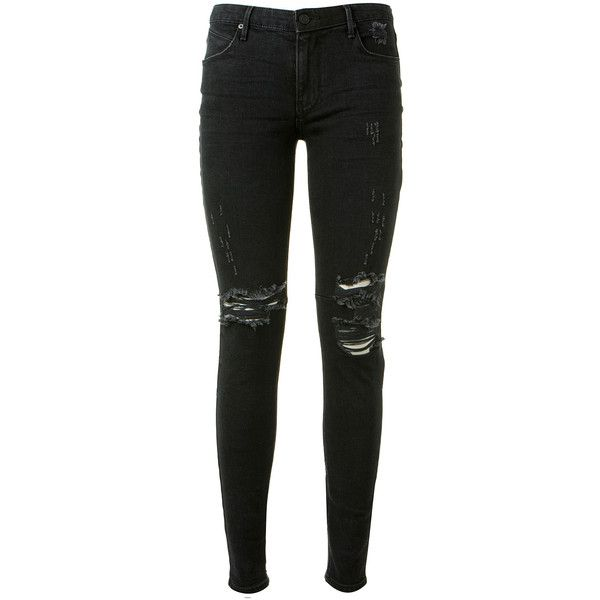 Rta Black Washed Used Jeans ($160) ❤ liked on Polyvore featuring jeans, pants, bottoms, pantalones, zipper fly jeans, rta, rta jeans, zipper jeans and black wash jeans