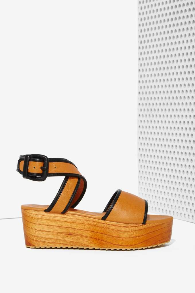3dba323d4c6e Shakuhachi Asuri Leather Flatform