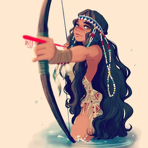 Photo of #nativeamerican #girl #hunting #character #design #drawing