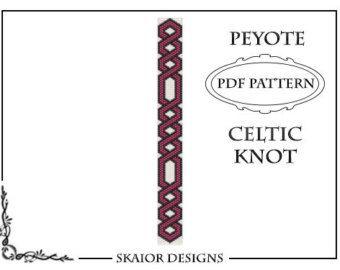 Artículos similares a Loom Beading Pattern Celtic Knot