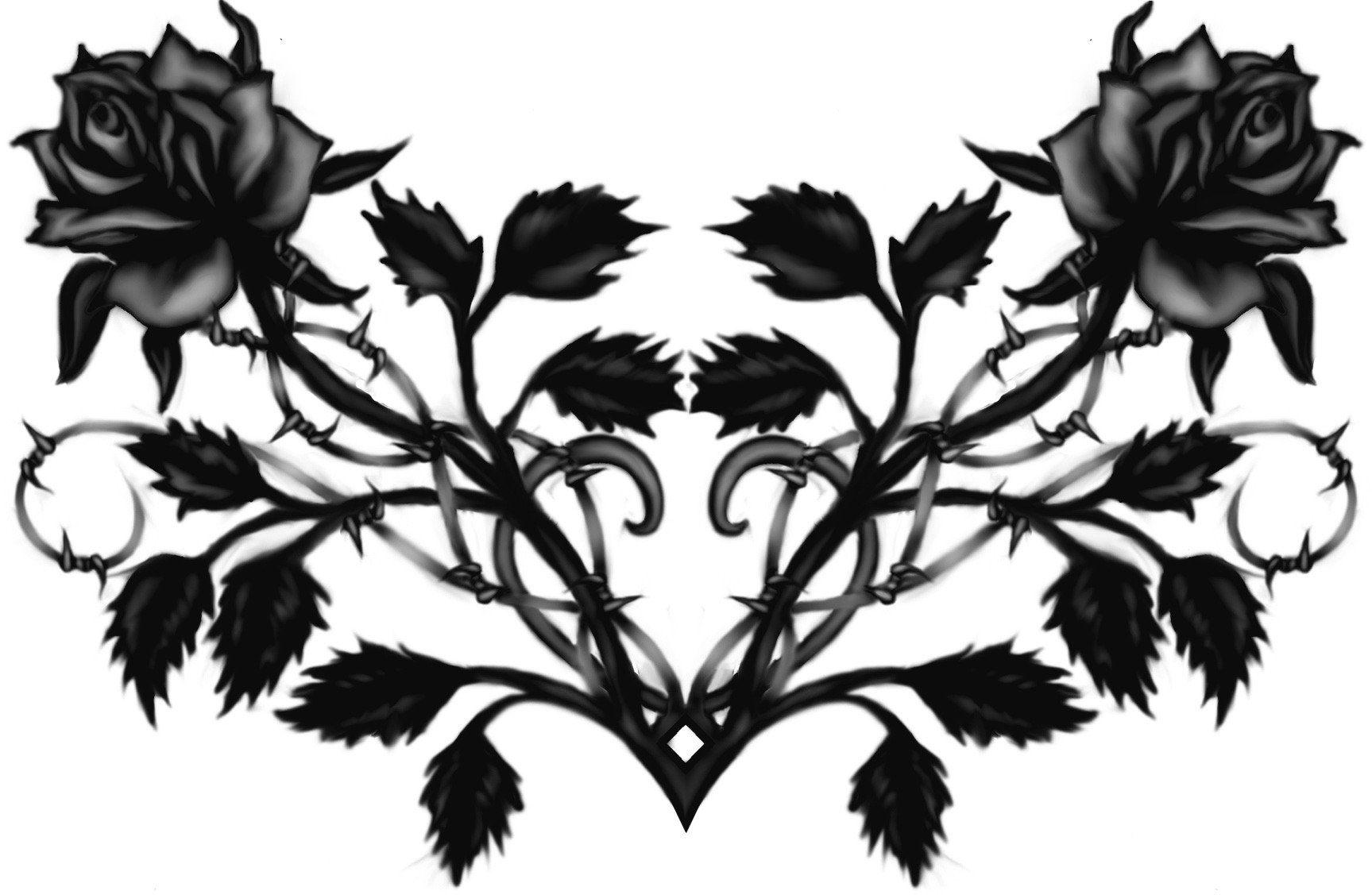 Publicado En Vive La Musica Tatuagens De Rosas Negras Tatuagem Gotica Tatuagem Nas Costas