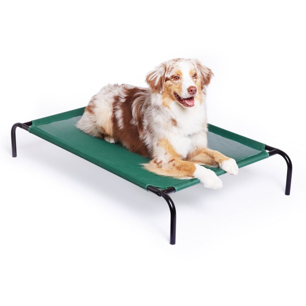 Large Elevated Pet Bed Cooling Camping Indoor Outdoor Dog Green