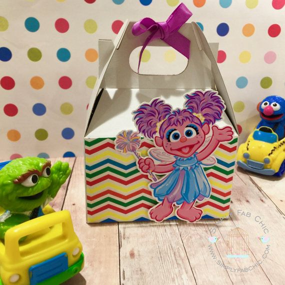 Abby Cadabby Favor Box | Birthday Party Treat Box | Snack Box | Party Box | Sesame Street Gable Box | Cookie Monster | Elmo | Big Bird