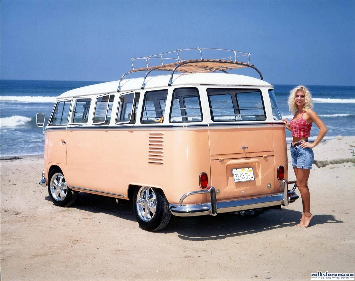 aint she a peach? vwbus at the beach ☮ re-pinned by http://www.wfpblogs.com