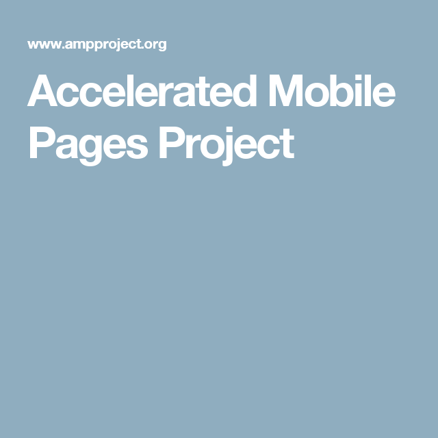 Accelerated Mobile Pages Project Marketing tools, Web