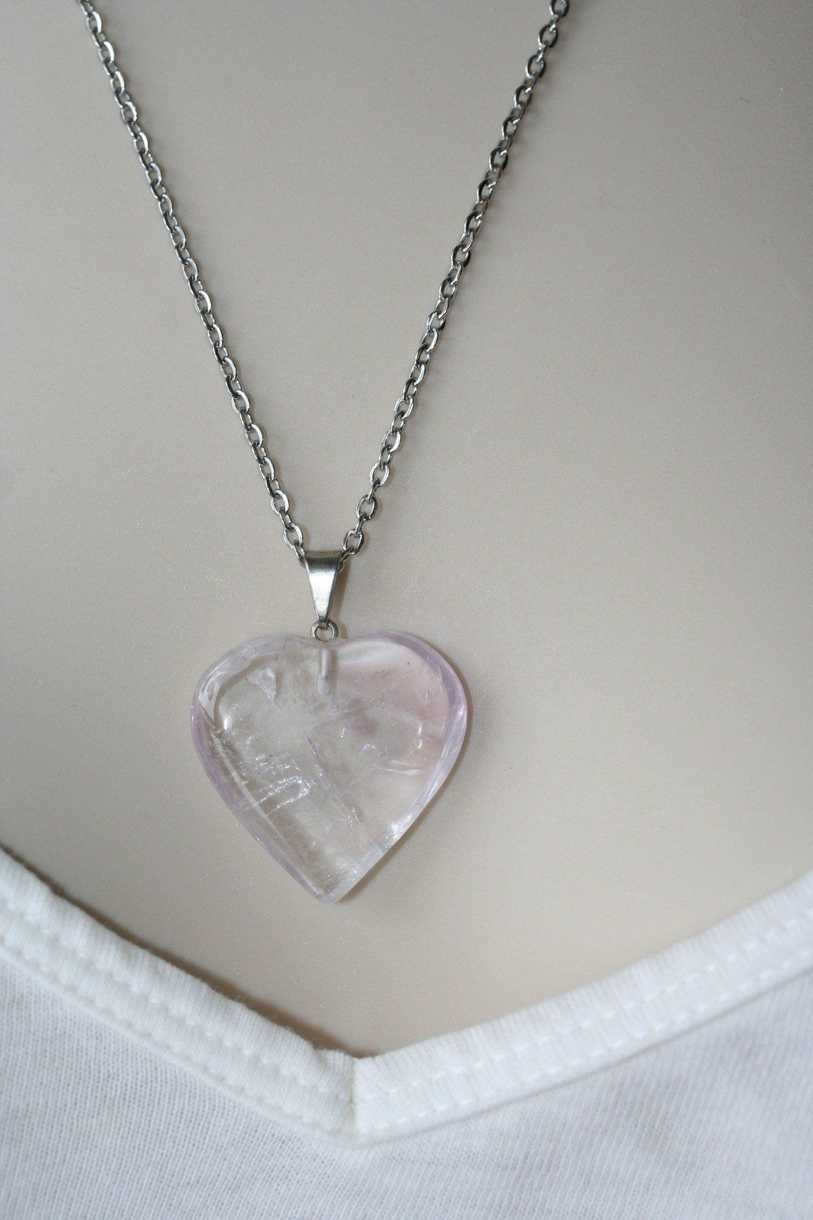 Natural Rodonite Gemstone Carved Puffy Heart Pendant