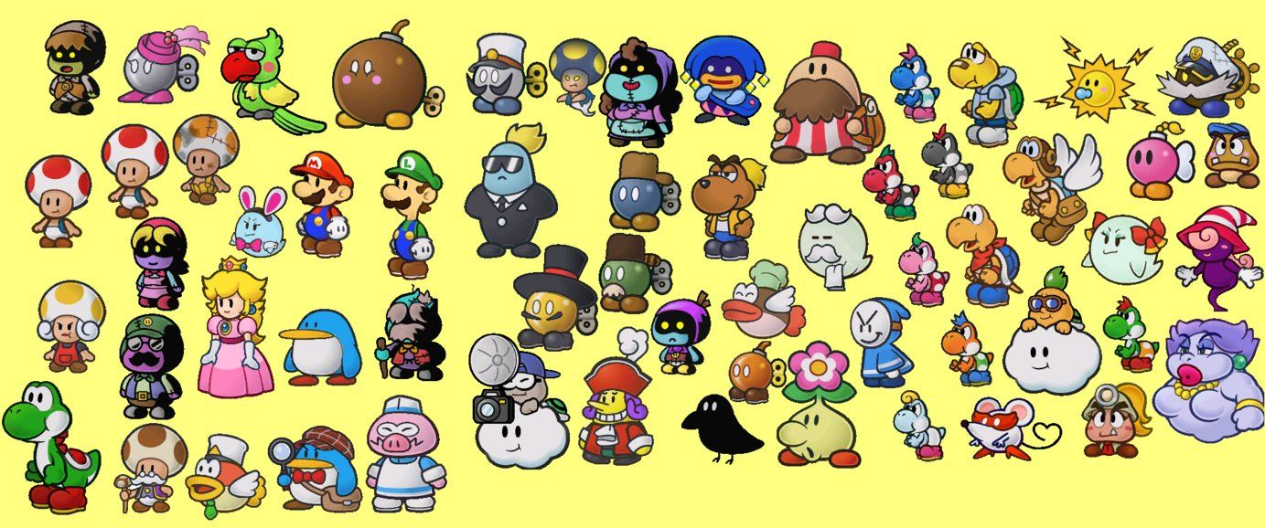 Image Result For Paper Mario Ttyd Sprites Paper Mario Character