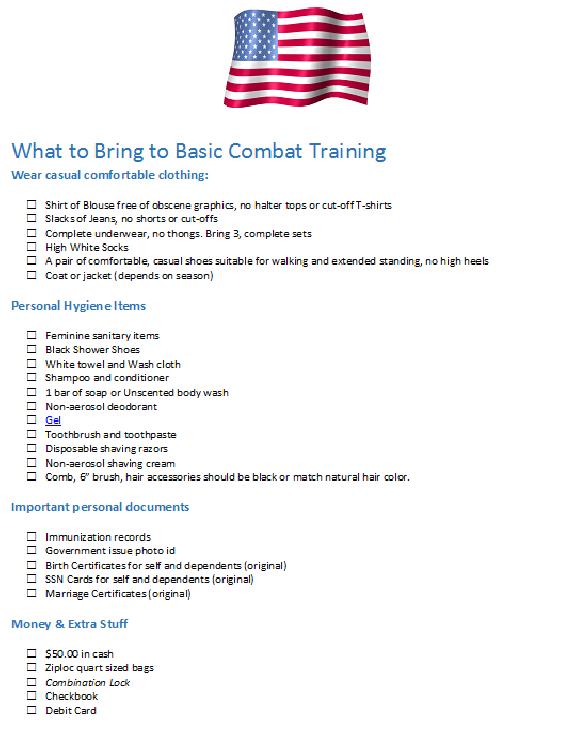 basic packing list national guard basic training us army basic training air force basic