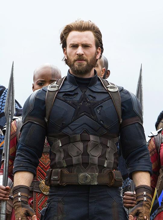 chris evans as steve rogers in 'avengers: infinity war'   marvelous