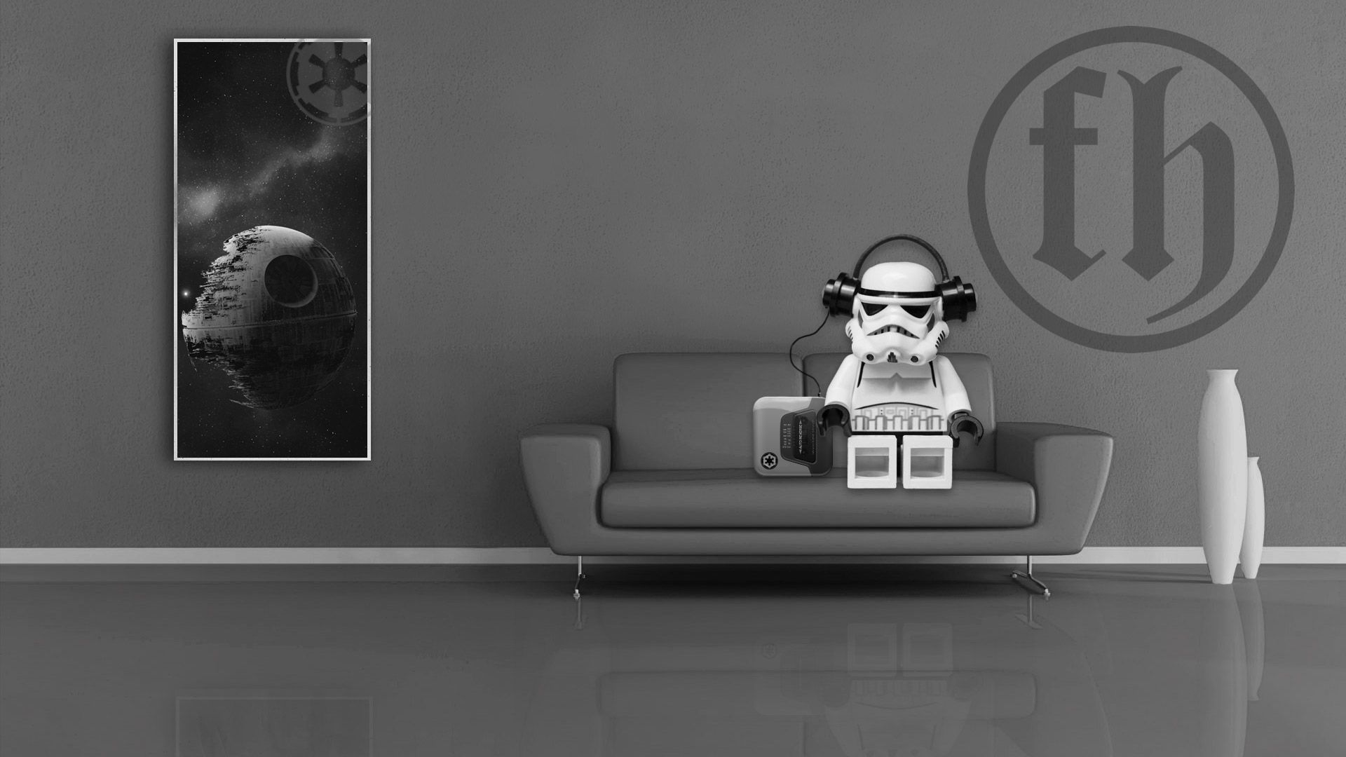 Because Lego Storm Trooper Chillaxin On The Couch That S Why Darth Vader Wallpaper Star Wars Wallpaper Stormtrooper