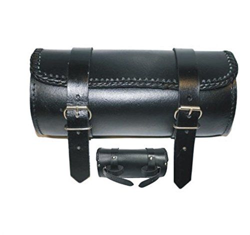 LEATHER MOTORCYCLE TOOL ROLL BRAIDED SISSY BAR BAG �39.49 - Amazon �19.49