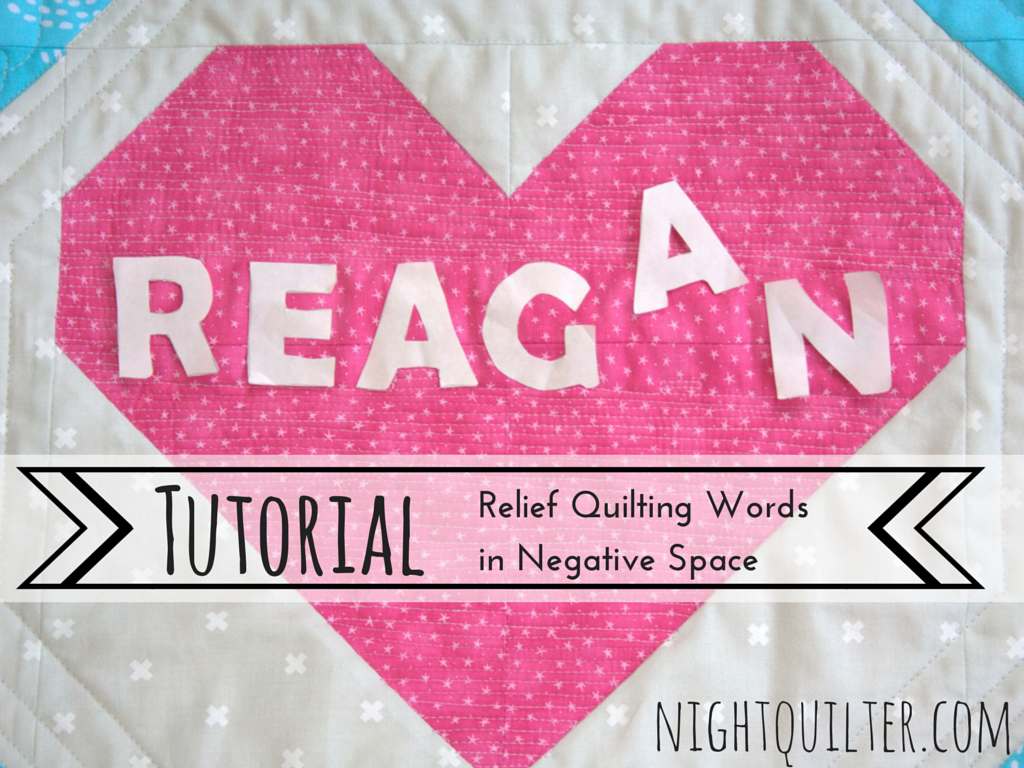 Tutorial Relief Quilting Words