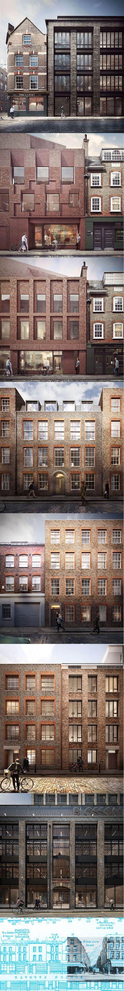 2015 duggan morris blossom street concept london uk brick ahmm - Brick Apartment 2015