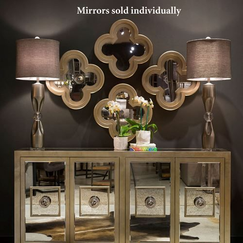 Aeliana Silver Clover Shaped Accent Wall Mirror is part of Silver Home Accents Guest Rooms -