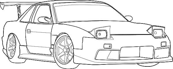 S13 Drifting Cars Coloring Pages | DIY and program crafts ...