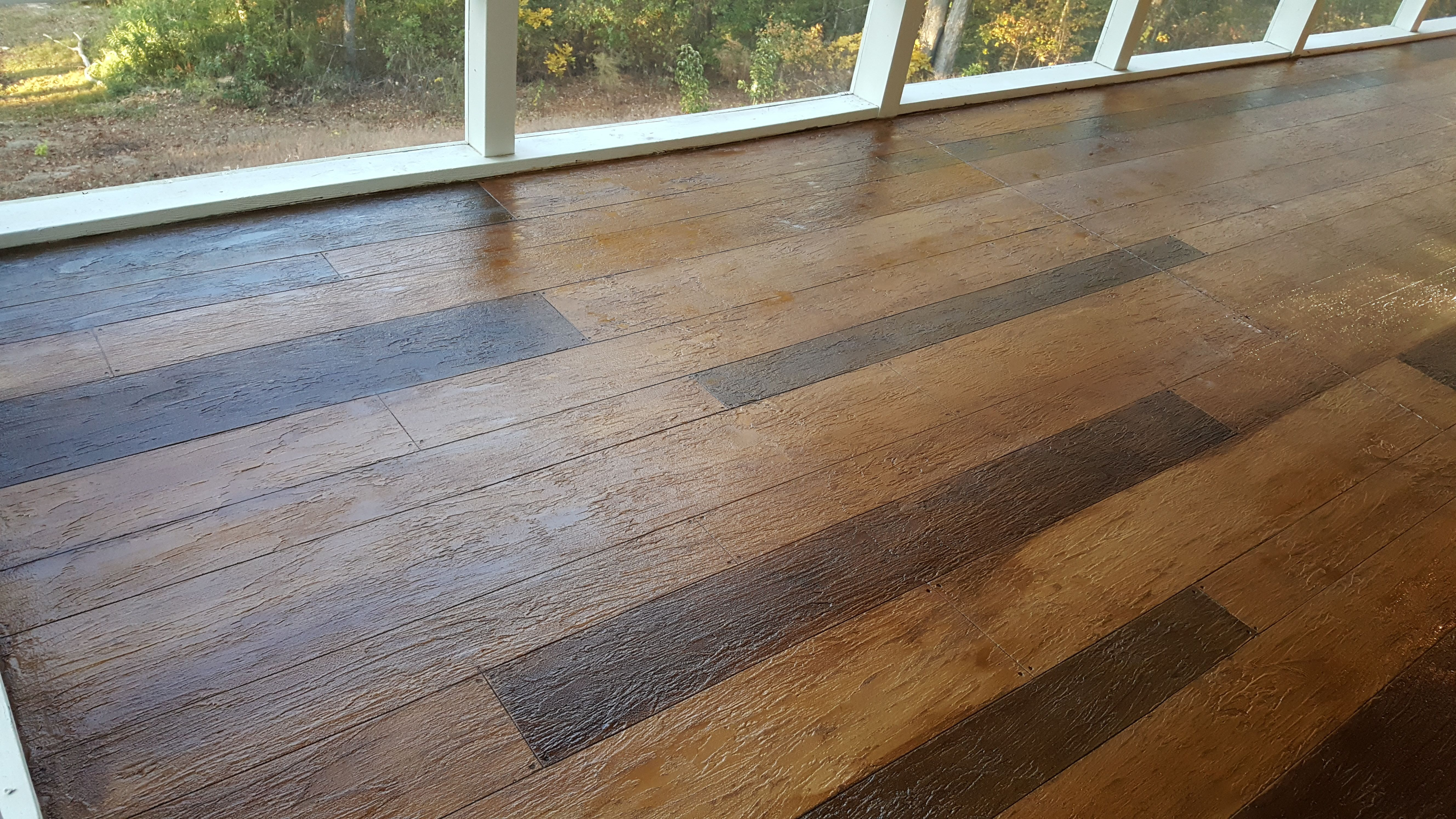 Wood Look Concrete Flooring Augusta