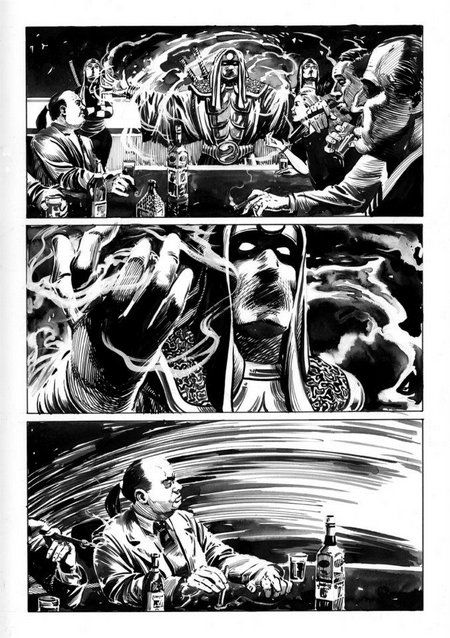 A page from Patriot #2. Penciled and inked by Jeff Slemons.
