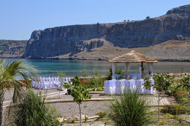 Beach wedding in rhodes historic location and stunning