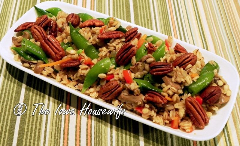 From the gardenbarley and vegetable pilaf how to cook