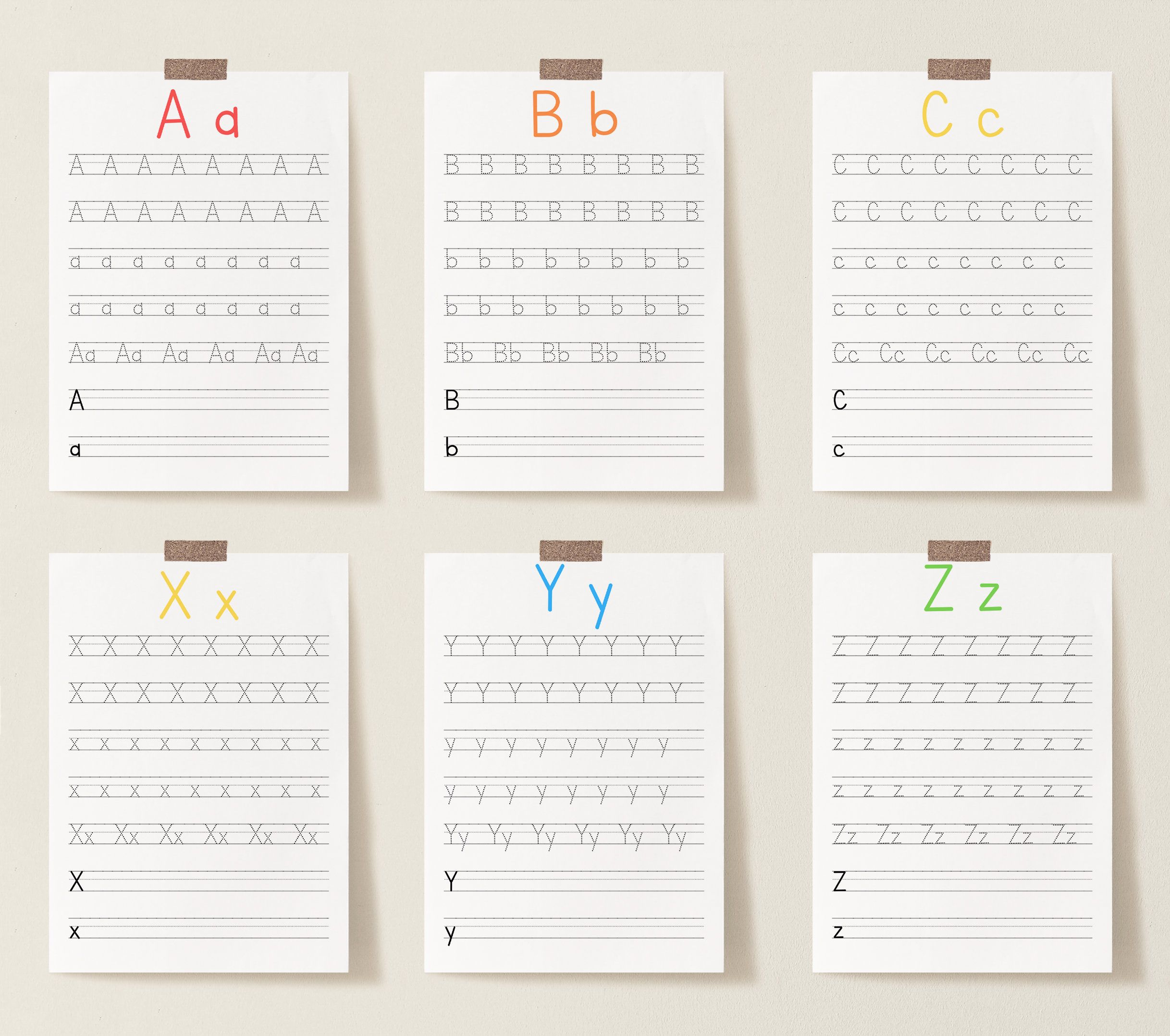 27 Home School Tracing Sheets Alphabet Tracing Sheets